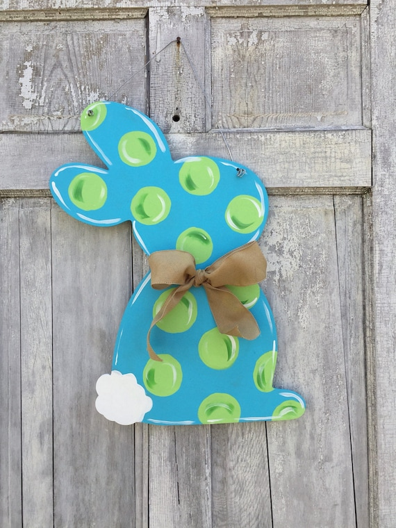 Easter Bunny, Rabbit, Spring, Easter,  door hanger, wall decor, Easter decoration