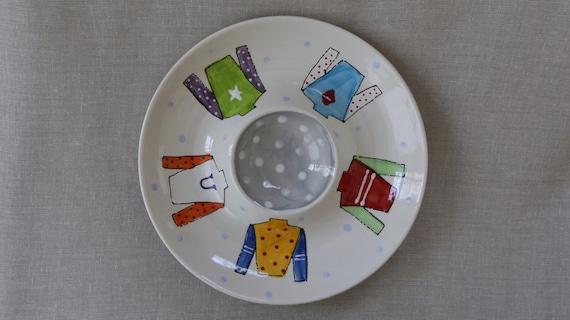 Derby chip and dip, horse shoe serving platter, custom chip and dip, hand painted chip snd dip, derby serving dish, horseshoe chip and dip