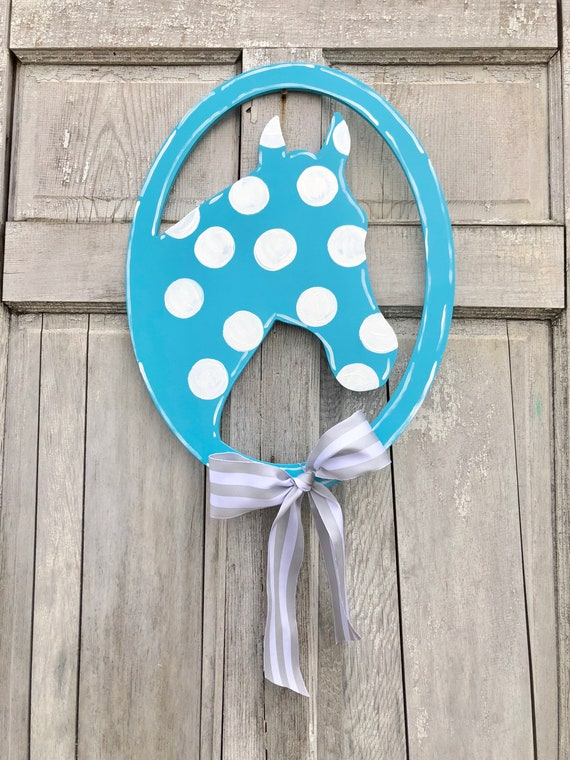 Horse door hanger, horseshead door hanger, Kentucky Door hanger, horse sign,  Kentucky Derby decoration, Kentucky Derby Decor