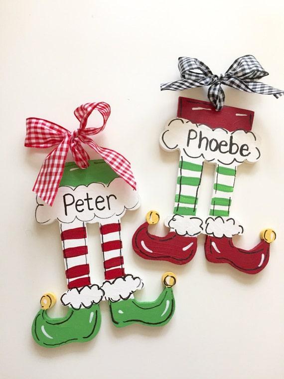 Elf Feet Christmas ornament, Children's, personalized, Christmas, ornament, Elf ornament, Personalized kids ornament, elf feet, ornament