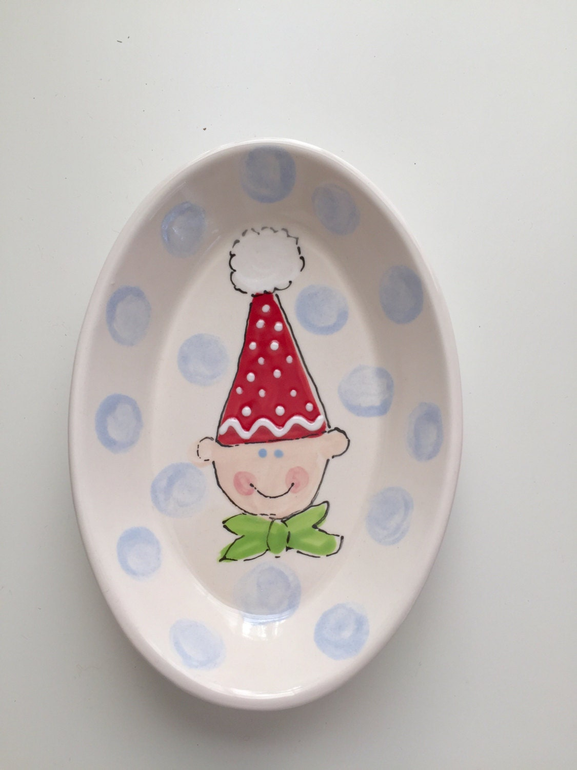 christmas elf candy dish elf trinket tray hand painted ceramic christmas candy dish christmas candy dish christmas soap dish