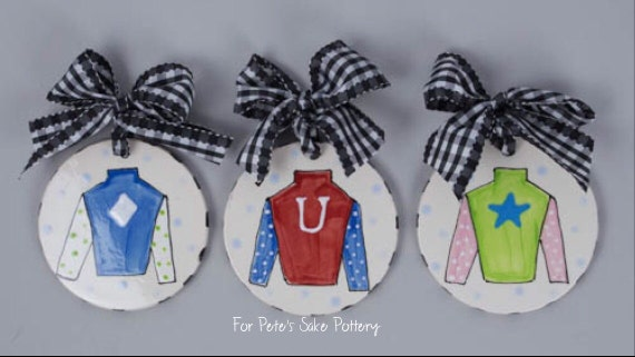 Jockey silk DERBY ornament