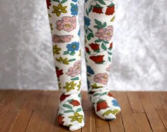 YOSD Little Fee white flowers tights
