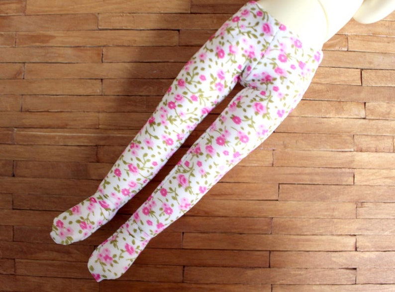 YOSD Little Fee pink fabric flowers tights image 0