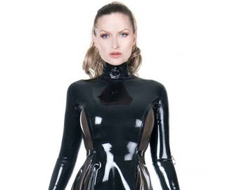 Latex Dress with Sleeves