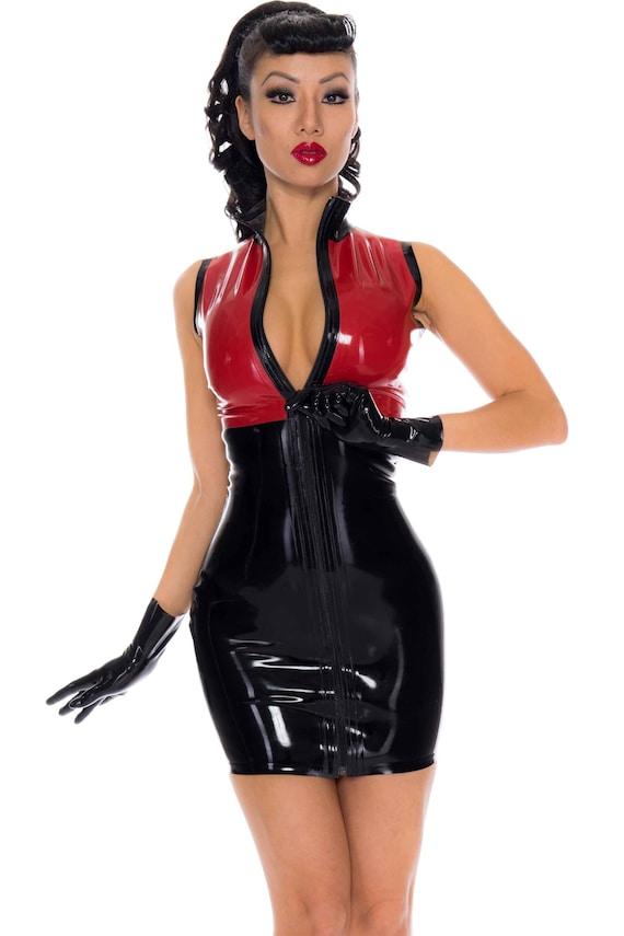 Annabelle Latex Rubber Mini Dress