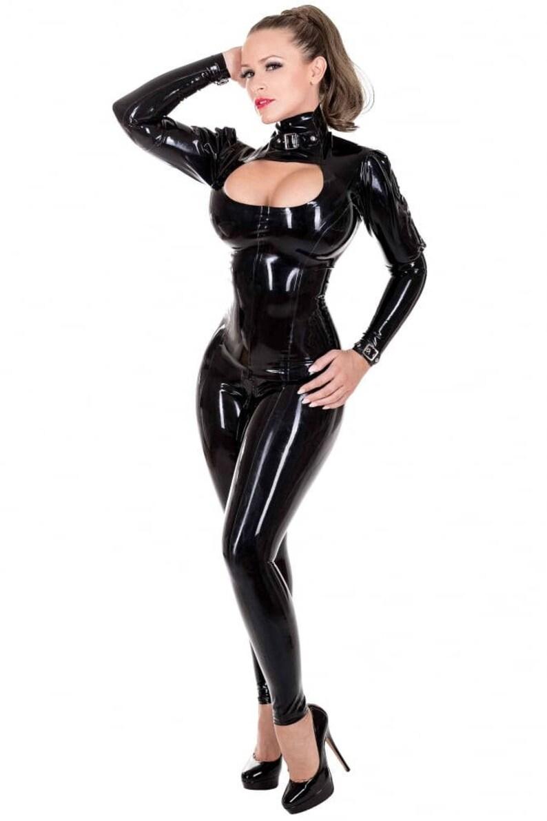 Latex cat suit