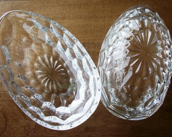 Crystal Glass Egg Trinket Jewely Box Vintage SWEET Easter Gift Ideas