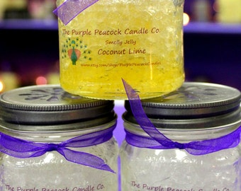 Lavender Smelly Jelly 8oz Mason Jar, Made to order, Long lasting flameless fragrance