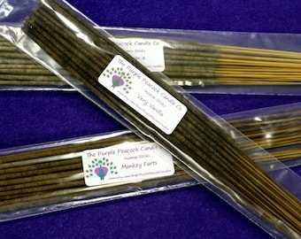 Black Cherry Scent Incense Sticks, Hand dipped, Made to order for freshness