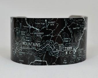 Smoky Mountains National Park  Map Cuff Bracelet
