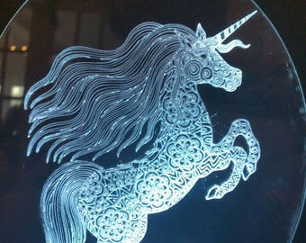 Unicorn Lamp Fantasy room Decor Colour change birthday Gift her bedroom Night light Girl Cave teenager Spirit animal Remote Control USB