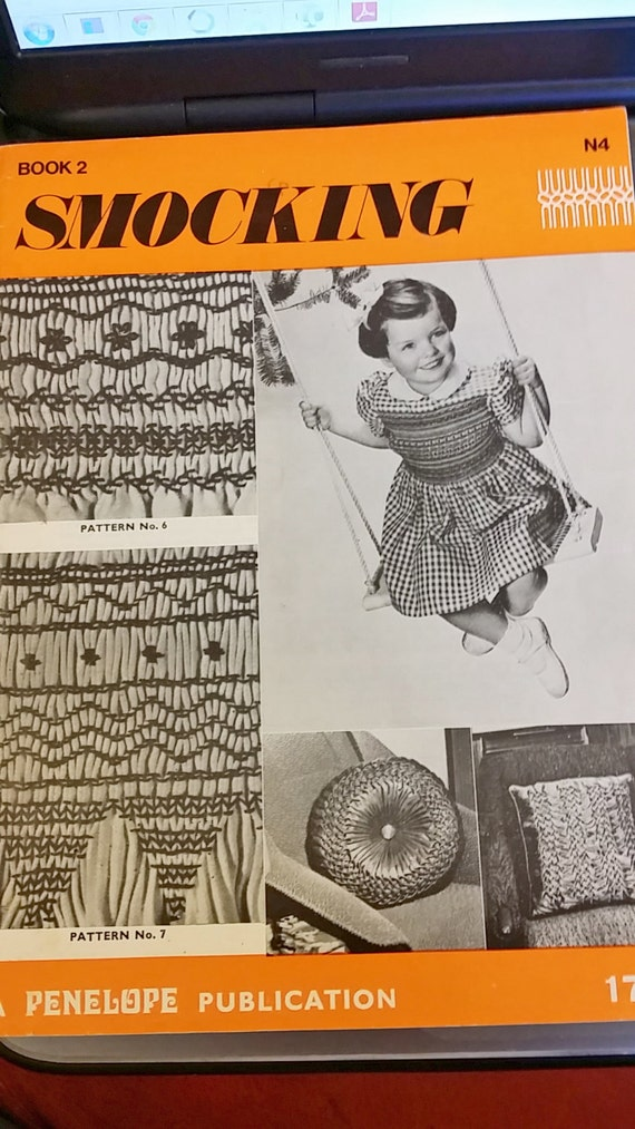 Smocking Instructions Patterns Vintage Digital Instant Etsy