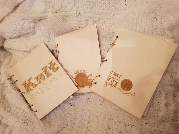 Pattern Folder For Knitting Crochet Patterns Engraved Birch Etsy