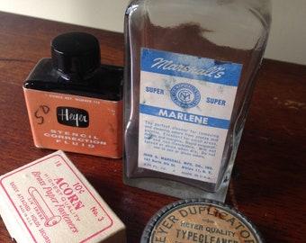 Vintage office supplies, 4 items, Typewriter Accessories, Work