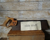 Vintage Wooden Hand Saw From the 1950 39 s or Earlier