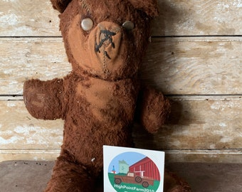 Bears old 1950s teddy ANTIQUE &
