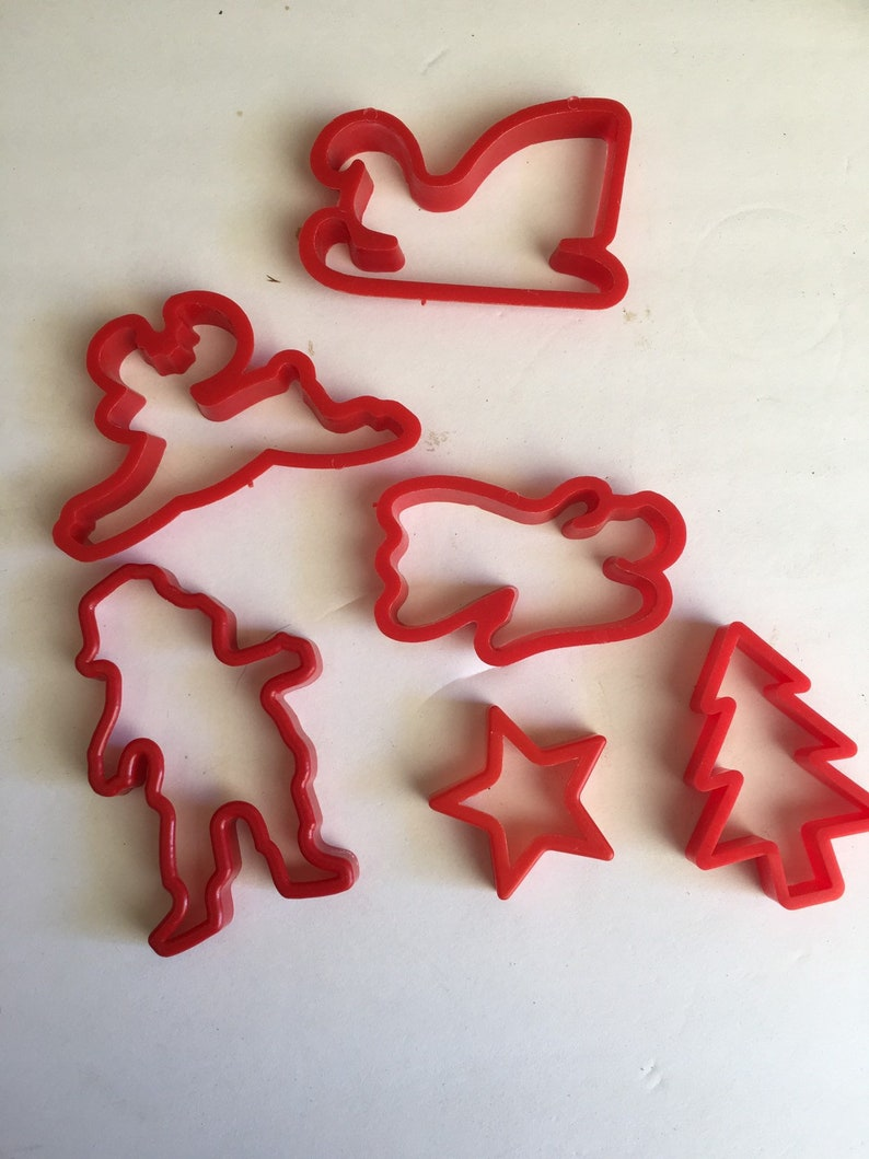 Vintage Christmas Cookie Cutters Set Fs