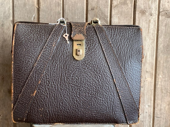 Vintage National Briefcase Leather or Attache Case