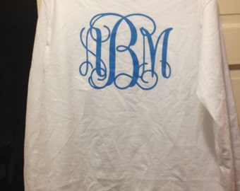 Long sleeve Monogrammed tshirt