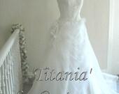 ON SALE 'Titania' Alternative Handmade Fairy Bridal gown Wedding Dress