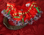 Red Valentine Festive Wedding Garter Handmade