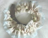 Victoriana Wedding Garter Vintage Lace, Buttons and Bows