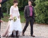Harvest Maiden- Handmade Alternative Custom Long Wedding Dress