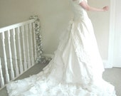 Rennaissance - Handmade Beaded Lace Vintage Style Bridal Gown