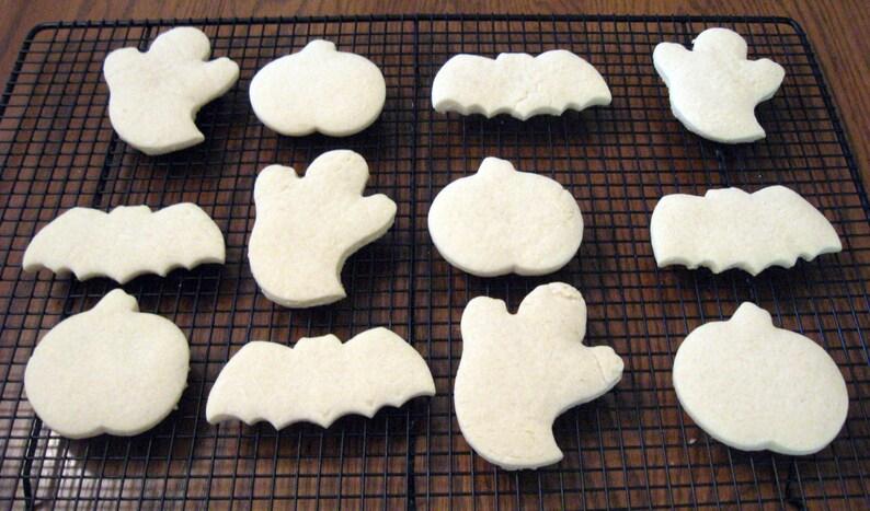 Halloween Cookies Cut Out Cookies Ghost Cookies Bat Cookies Halloween Treats Kids Craft Almond Cookie Anise Cookie Vanilla 2 Dozen