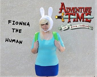 Fionna Cosplay, Adventure Time Hat, On Sale, Gifts for her, Cosplay Hat, Comic Con, Ready To Ship.