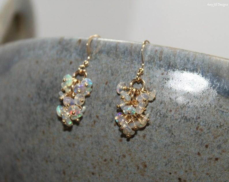 Genuine Fire Ethiopian Opal Earrings Ethiopian Opal Jewelry image 0