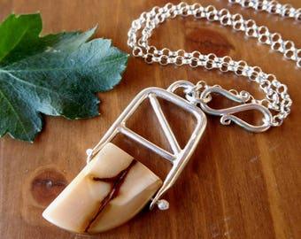 SALE** Sterling Silver Mookaite necklace | Jasper Dagger Pendant | Sterling silver stone necklace | natural stone pendant | Jasper necklace