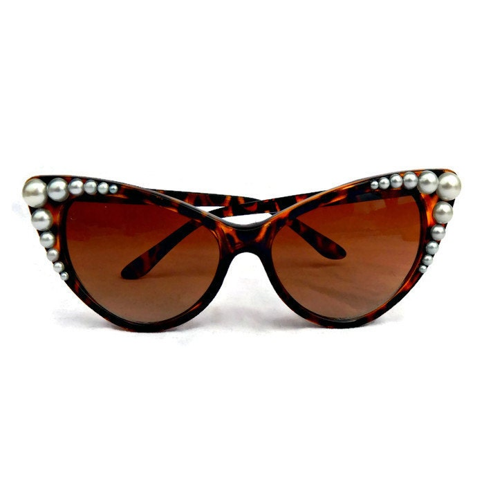 Embellished Cat Eye Sunglasses bc86a85f62