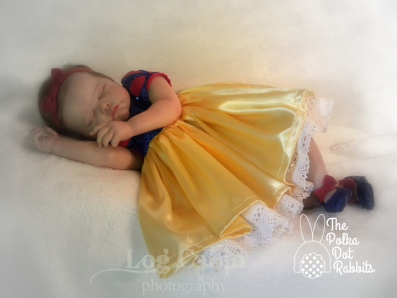 Snow White Costume 3 Pieces Disney Princess Baby and Toddler Photo Prop