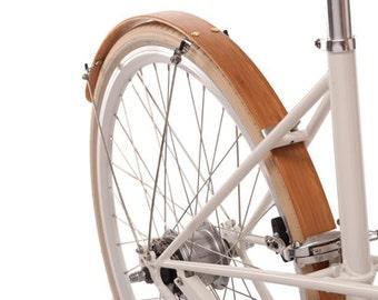 Wood Bike Fenders- Woody's hand made bicycle fenders.  Bike fenders.  Mud guards, Bamboo, recycle, bike, bike add on, commuter bike, fenders