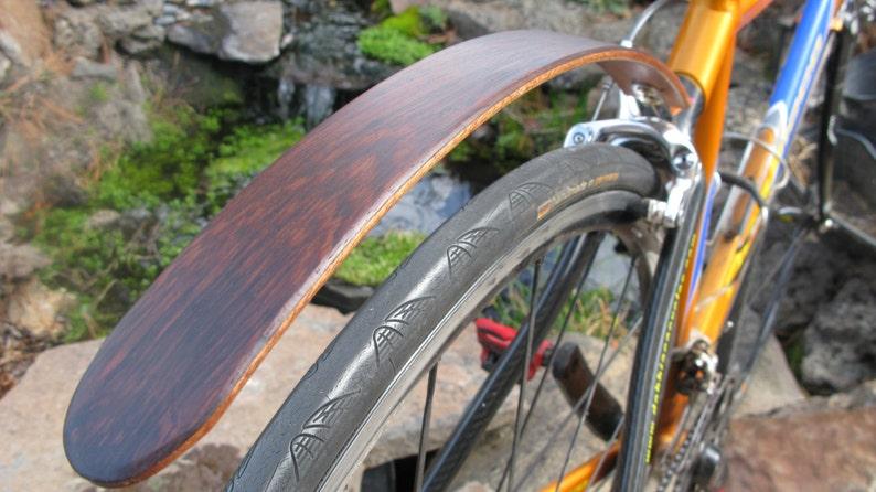 Woody S Chop Chort Rear Wenge Bike Fender Bicycle Etsy