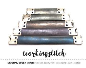 Monrocco 20 PCS 100mm Metal Internal Flex Frames Bronze Internal Handbag Hinges Spring Clip Kiss Clasp Bag Coin Purse Sewing