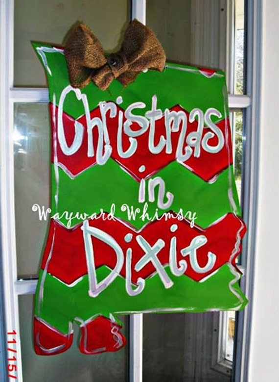 Alabama Christmas In Dixie.Christmas In Dixie Alabama State Wood Cut Out Door Hanger