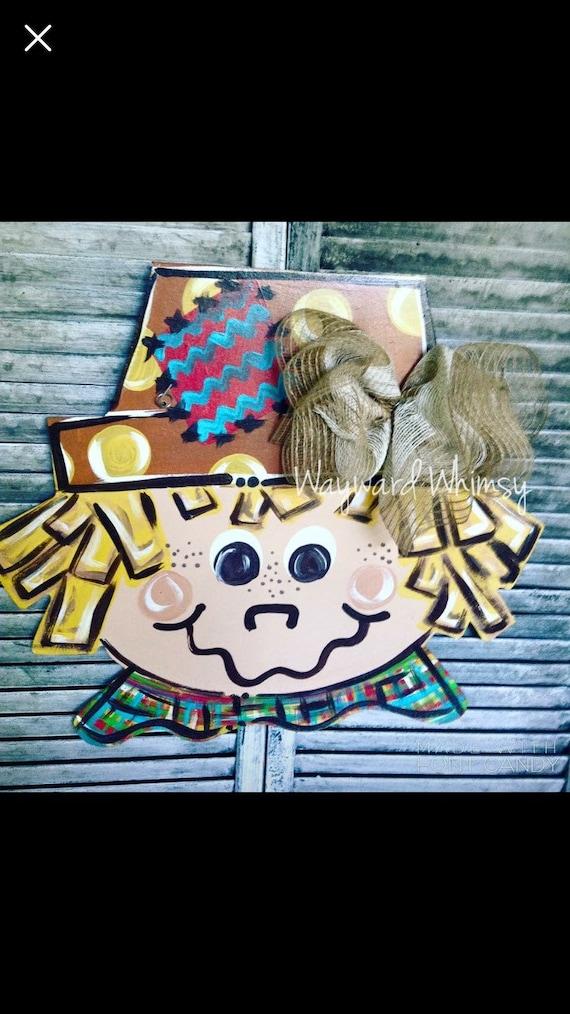 Scarecrow Door Hanger Halloween