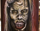Zombie Undead Walking Dead Portrait Oil Painting