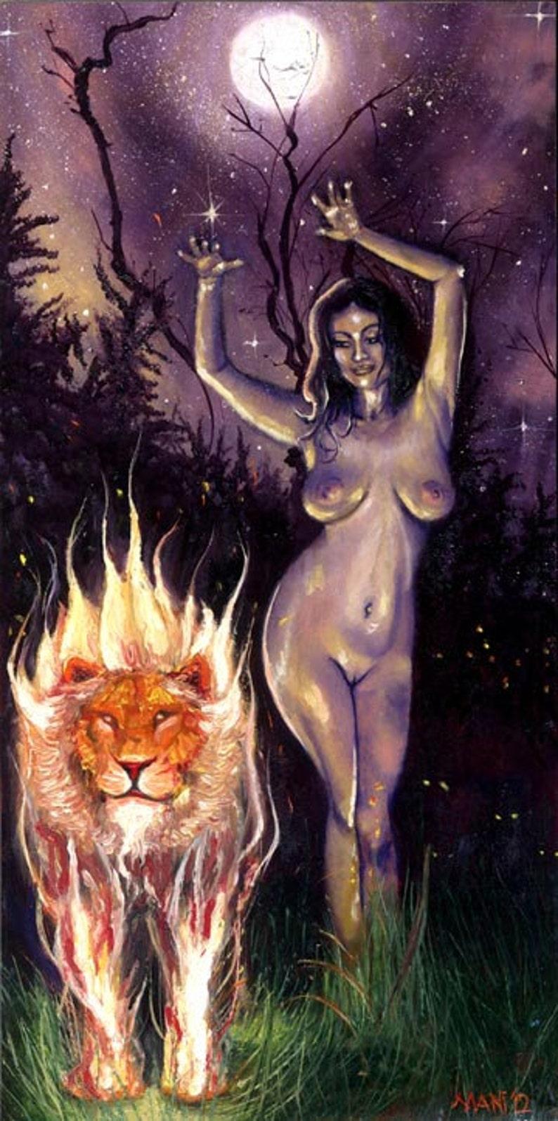 Strength Tarot Card Fire Dance image 0