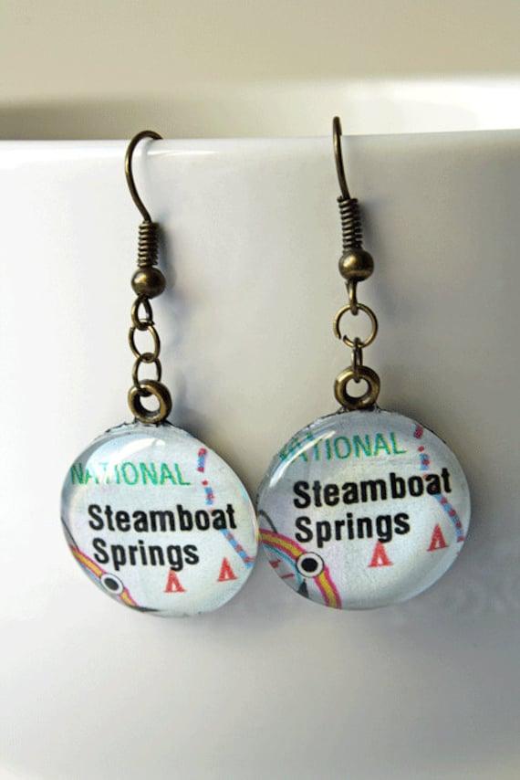 Steamboat Springs Earrings Steamboat Springs Colorado Etsy
