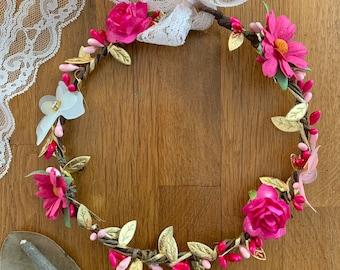 DIY Flower crown ΚΙΤ, Flower girl kit, Fairy crown kit, Boho crown, Flower crown making kit, Children's flower crown kit, Headband kit diy
