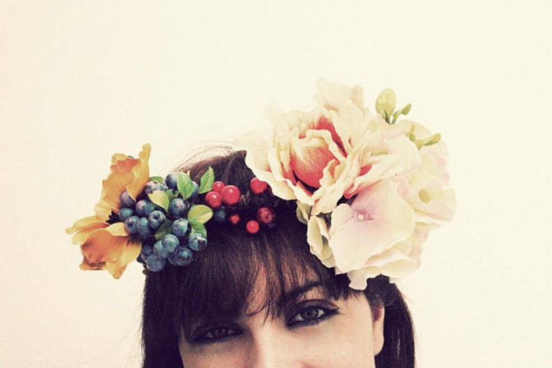 OPHELIA Floral Wreath WOODLAND Flower crown flower  e97fb8d7841