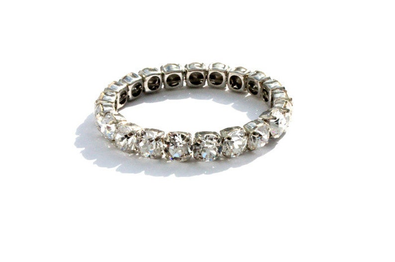 Swarovski Bracelet CRYSTAL CLEAR Silver - Diamonds Charm Bracelet - Gold  Swarovski Crystal Bracelet - Tennis bracelet