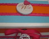 Newlywed Bridal Shower RECIPE BOX to match memory box