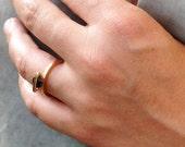 Black cz ring, band ring,...