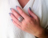Sterling Silver Ring, Lar...