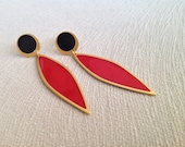 Red and Black Earrings, E...